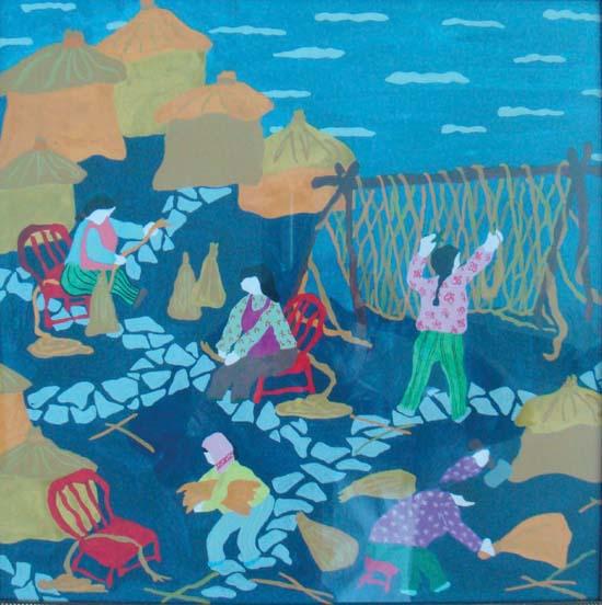 蚂组词-建廉洁海岛 兴和谐舟山 渔民画比赛我区获奖作品选刊图片