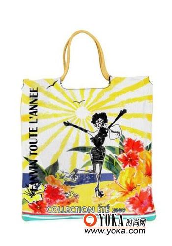 儿童简笔画手提包-met系列印花手袋-童趣背包 给生活加点料